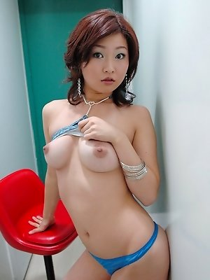Japanese tramp is at home showing her fine tight ass under her tiny skirt